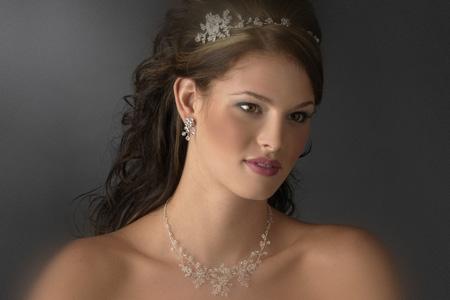 مدل ست گردنبند و گوشواره عروس 10