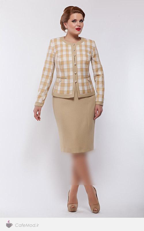 لباس دانتل سایز بزرگ کافه مد | مدل لباس زنانه Lady Line