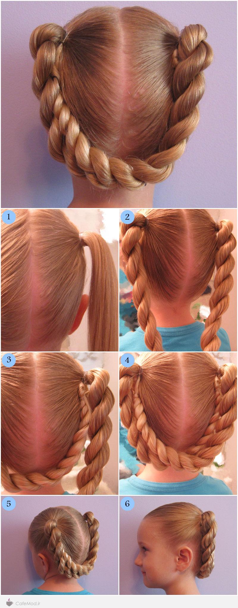 آموزش مدل موی دخترانه