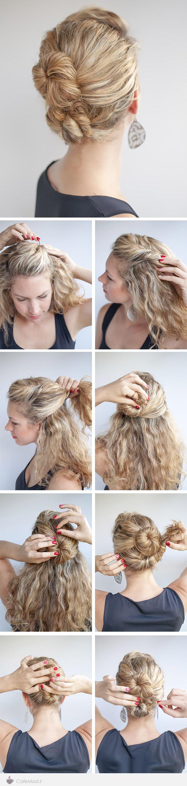 آموزش جمع کردن و بستن مو