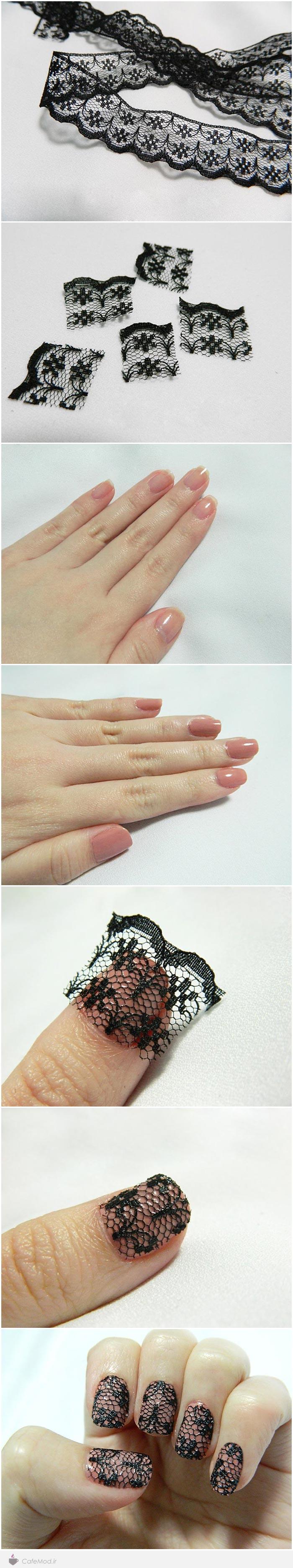 آموزش مدل ناخن های توری