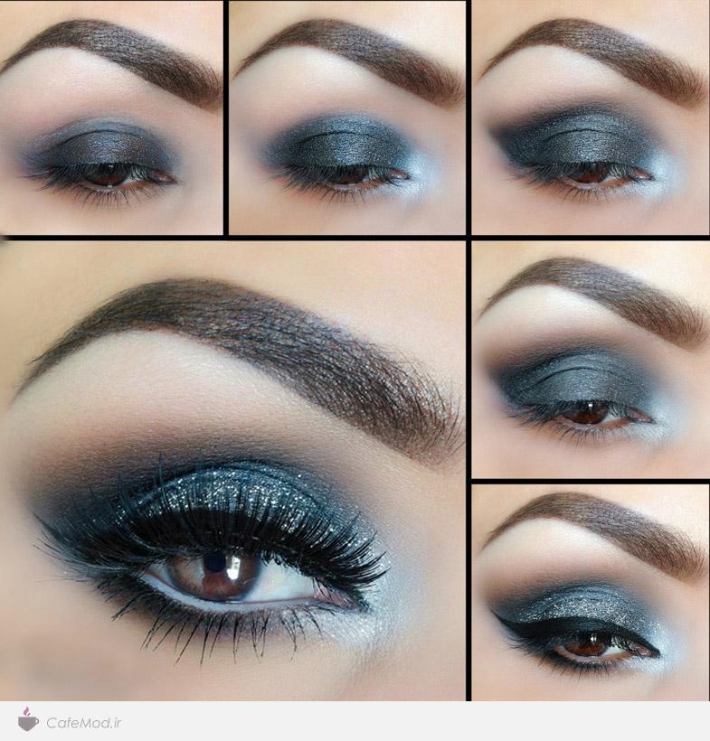 مراحل آموزش آرایش چشم دودی