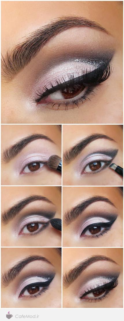آموزش مدل آرایش ملایم چشم