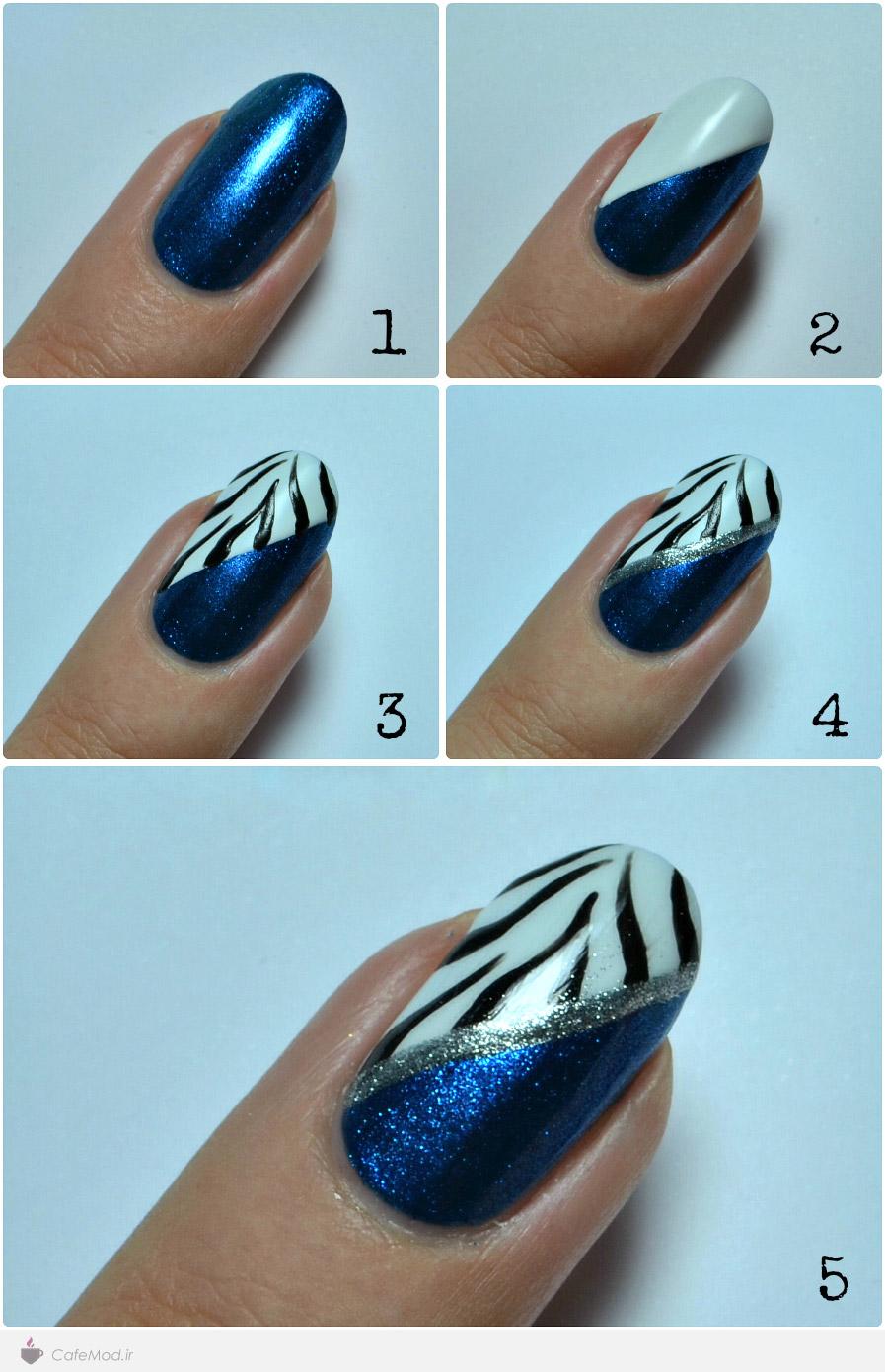 آموزش طرح زیبا روی ناخن