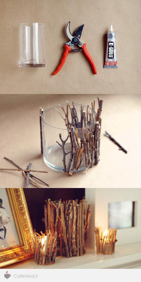 مراحل آموزش ساخت جاشمعی چوبی
