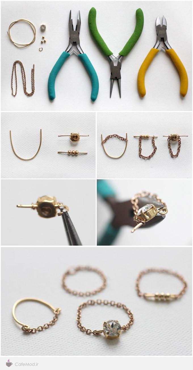 مدل انگشتر زنجیری