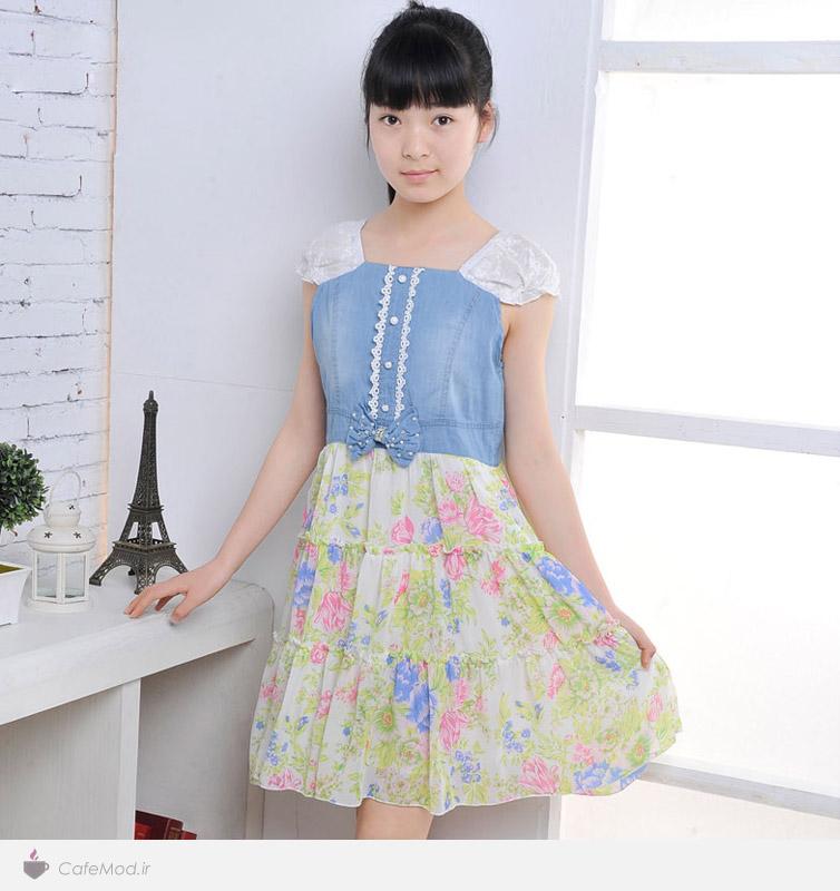 مدل لباس جین دخترانه