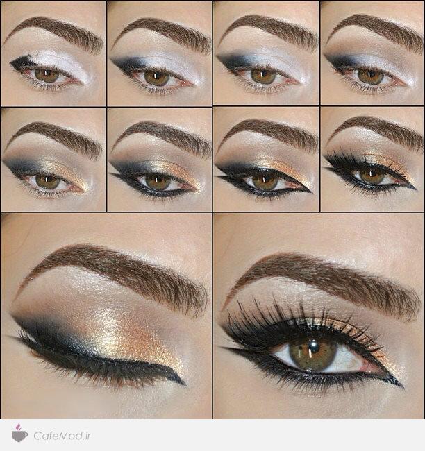 مراحل آموزش تصویری آرایش چشم