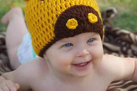 مدل کلاه بافتنی کودک  13