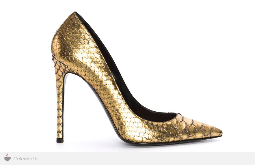 خرید اینترنتی کفش زنانه طلایی