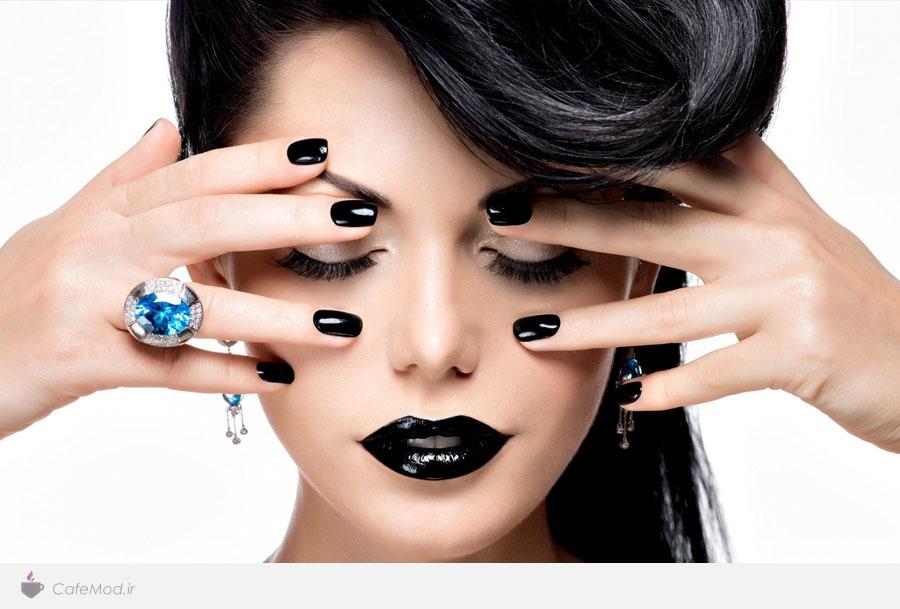 مدل آرایش سیاه