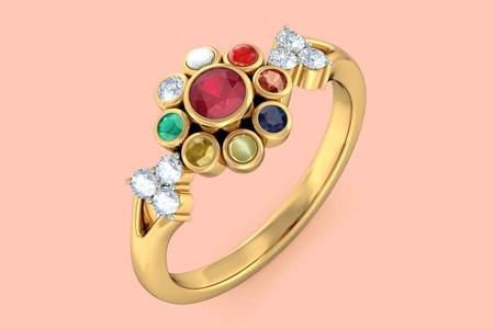 مدل جواهرات با سنگ هاي رنگي  16