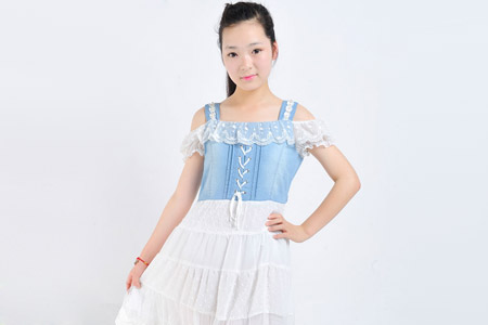 مدل لباس جین دخترانه  16
