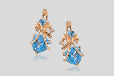 مدل گوشواره های طلا و جواهر  16
