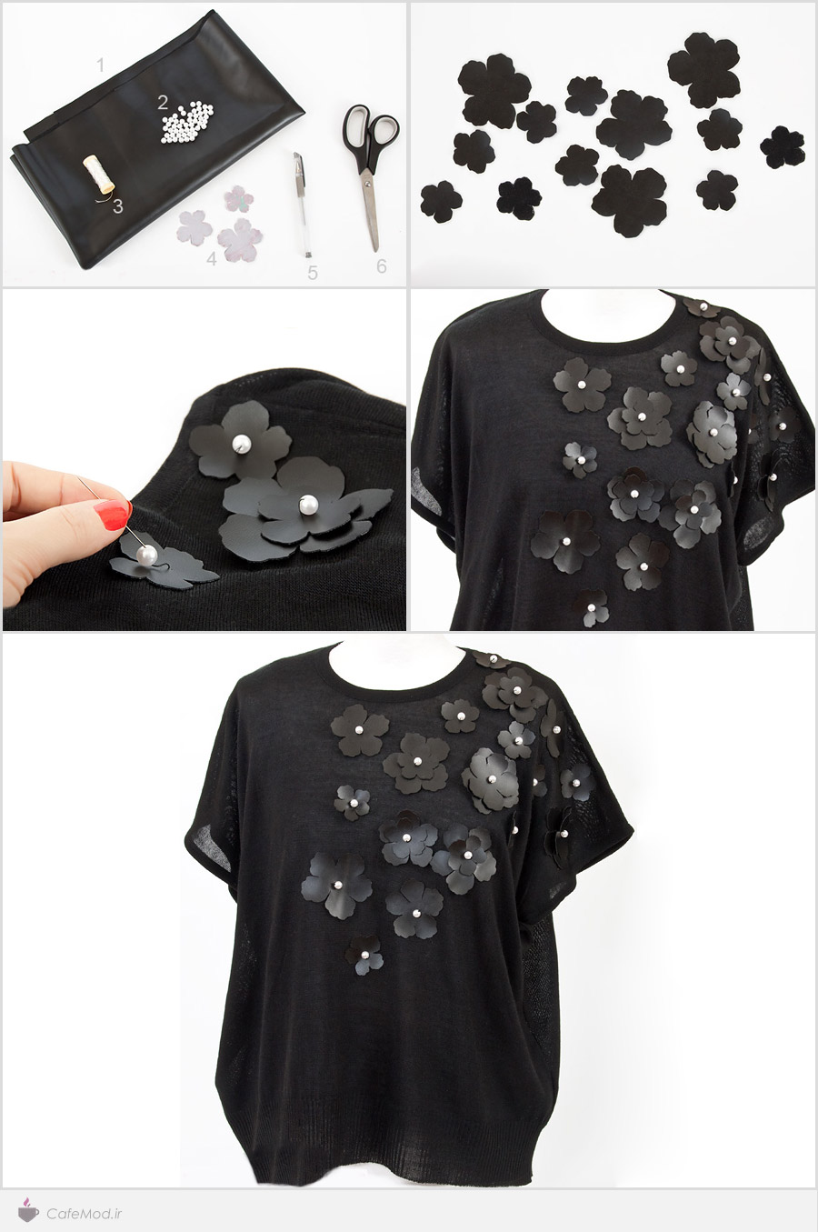 آموزش گلدار کردن لباس