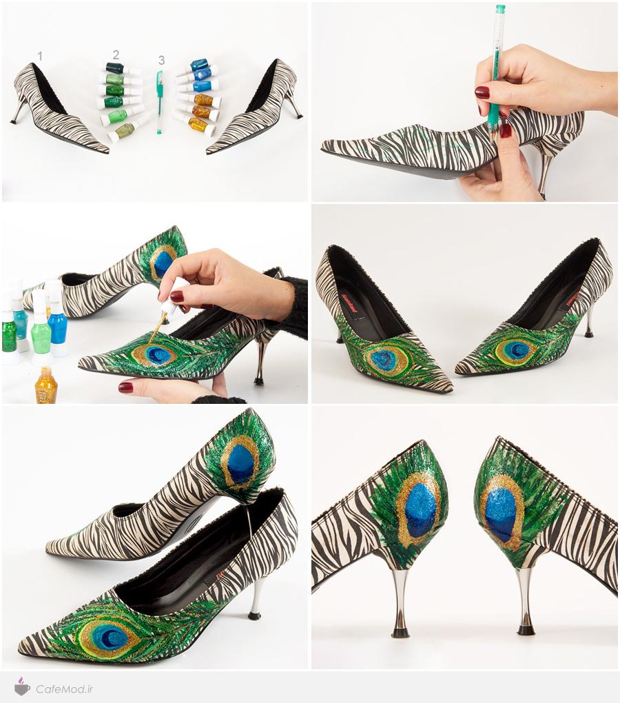 طراحی روی کفش