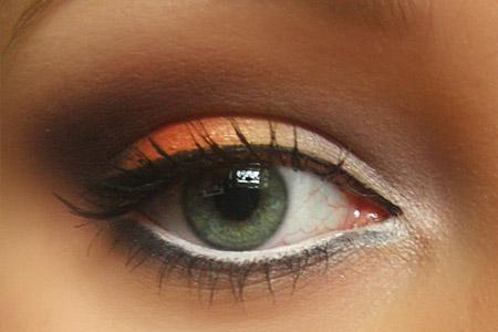 آموزش آرایش پاییزی چشم  2