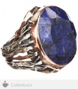 مدل انگشتر با سنگ های رنگی