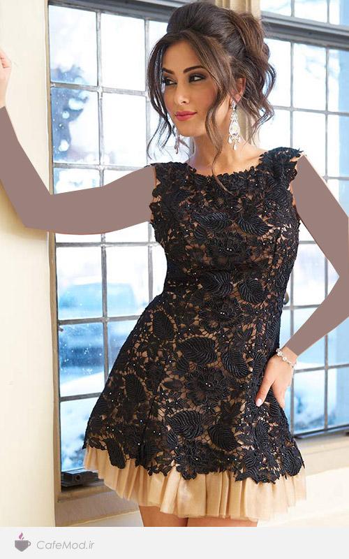 لباس مجلسی کوتاه زنانه