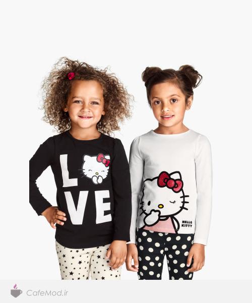 مدل تیشرت دخترانه H&M
