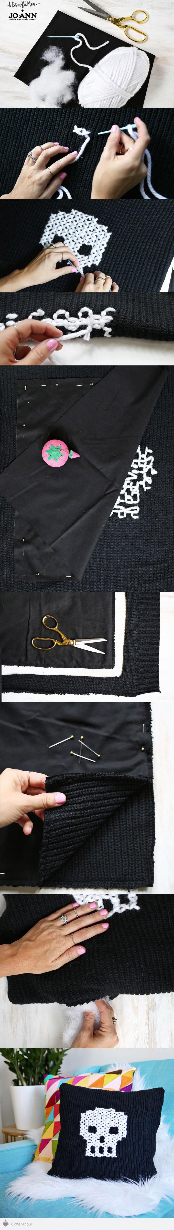 آموزش تصویری دوخت کوسن با لباس های قدیمی
