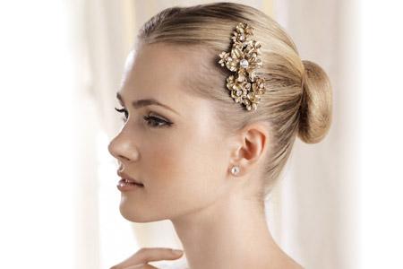 مدل گل سر ساده عروس  10