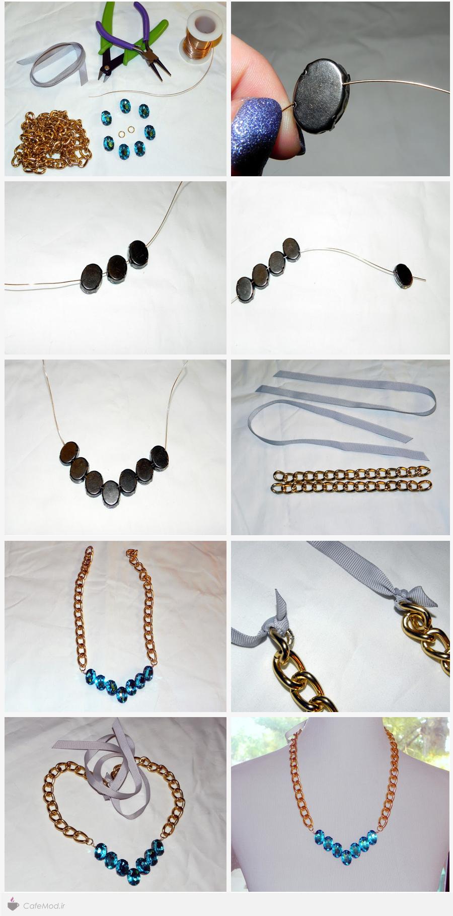 آموزش ساخت گردنبند زنجیری