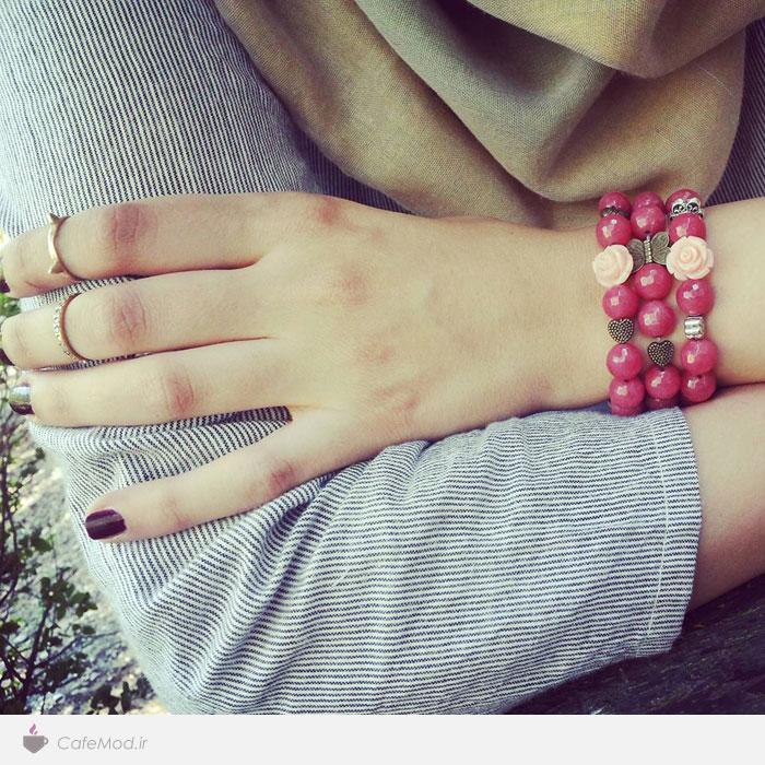 مدل دستبند دست ساز مهره ای