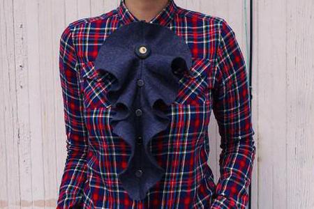 تزئین جلوی پیراهن زنانه 2