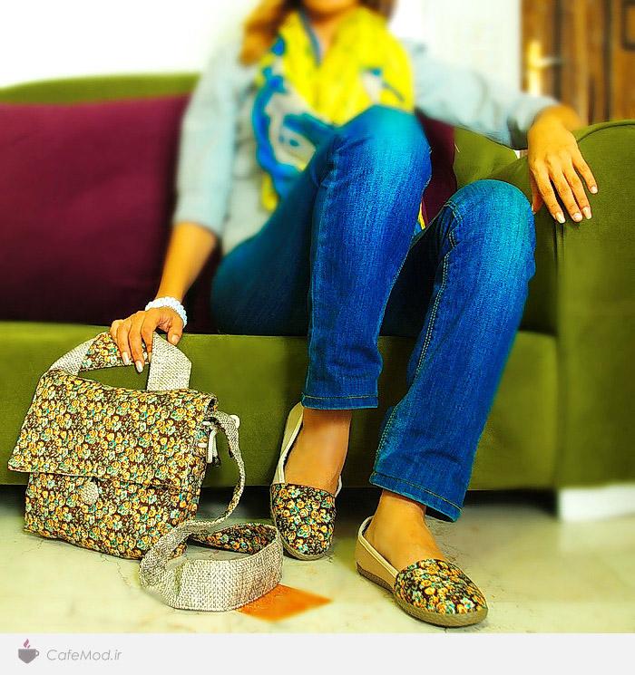 مدل کیف  و کفش دست ساز برند ایرانی کادو کادو