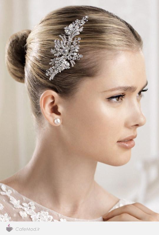 مدل گل سر ساده عروس