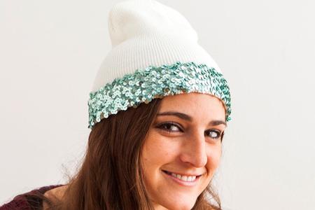 سه روش تزئین و تغییر کلاه بافتنی 7