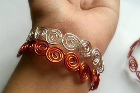 آموزش ساخت دستبند سیمی 4
