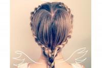 مدل بافت مو به شکل قلب