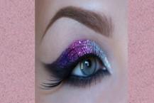 آموزش آرایش چشم با سایه زر دار