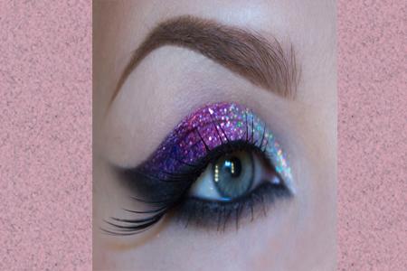 آموزش آرایش چشم با سایه زر دار 7