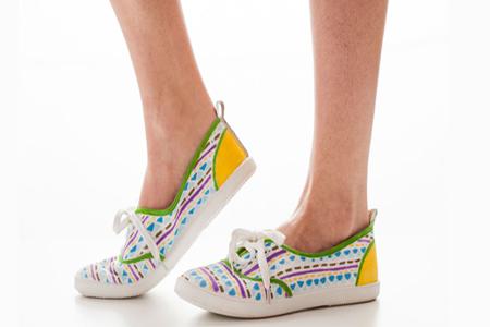 آموزش رنگ آمیزی کفش اسپورت 1