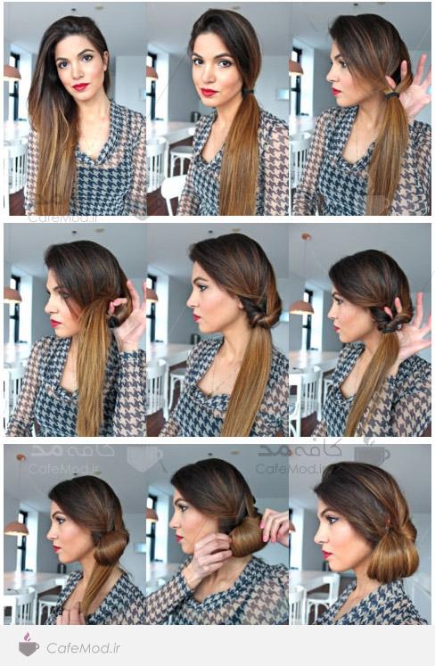 آموزش بستن موی بلند