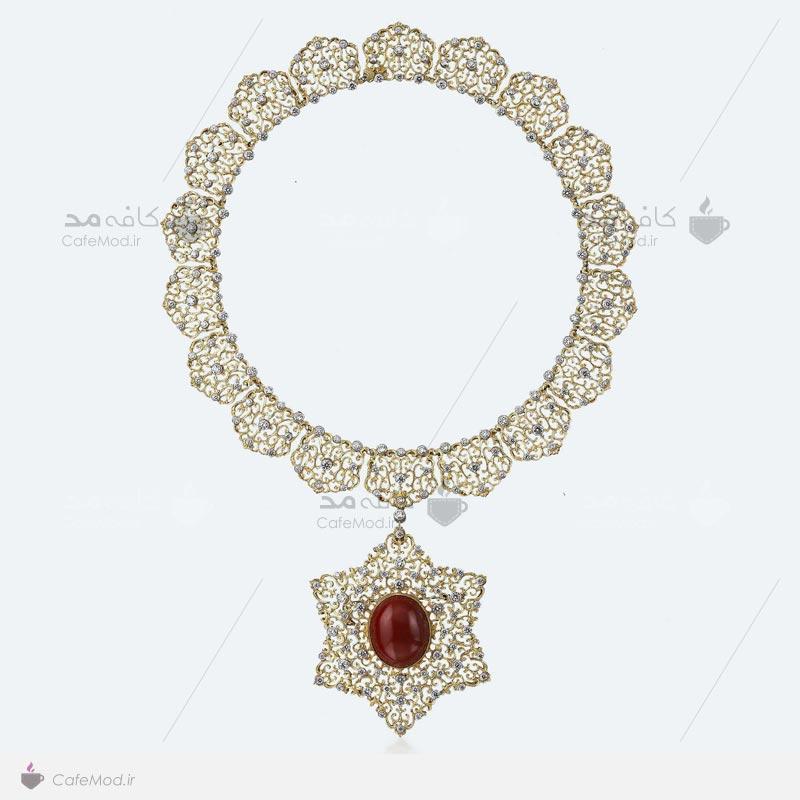 مدل گردنبند جواهر زنانه