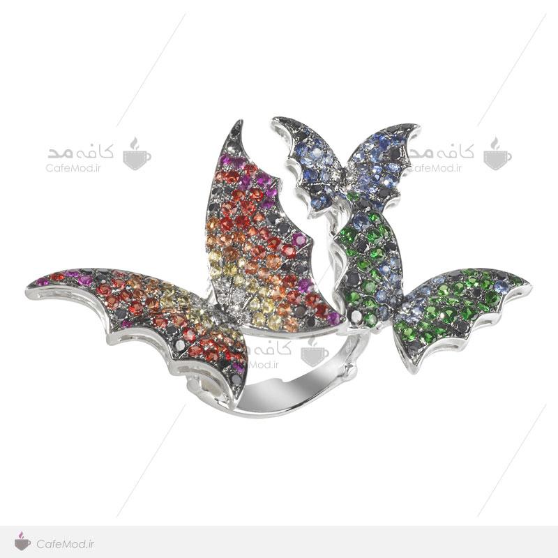 مدل انگشتر پروانه