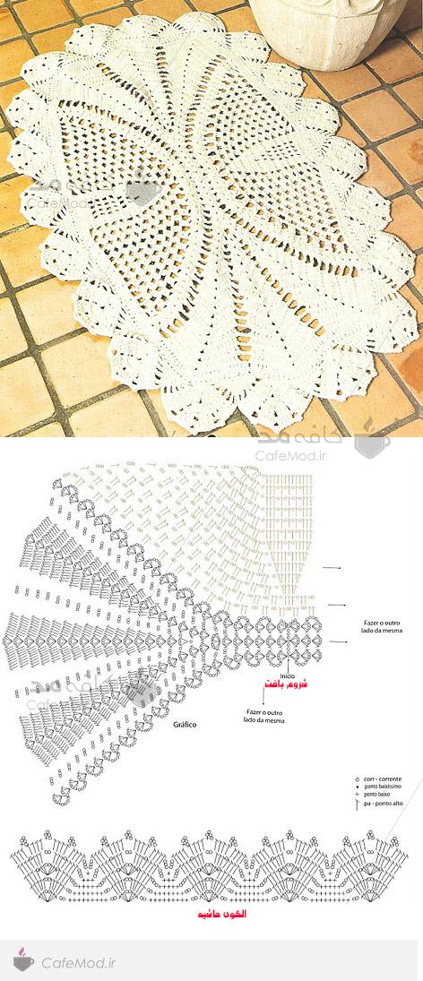 آموزش بافت زیرانداز طرح پروانه