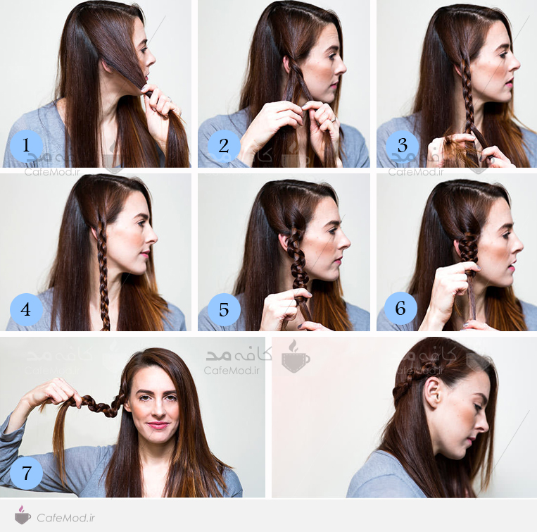 آموزش بافت موی ساده