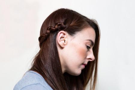 آموزش بافت موی ساده 2