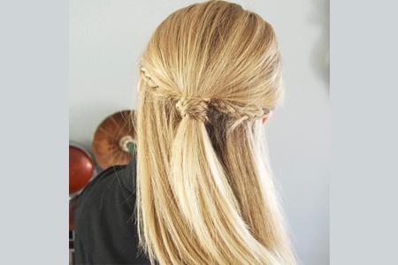 آموزش بافت موی زیبا همراه با دم اسبی