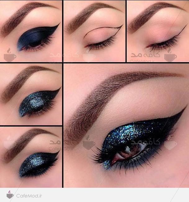 آموزش آرایش چشم سرمعی