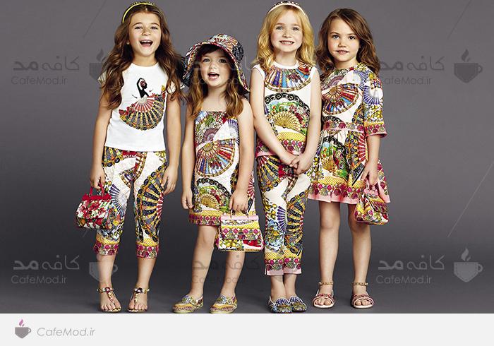 مدل لباس دخترانه DOLCE AND GABBANA2015