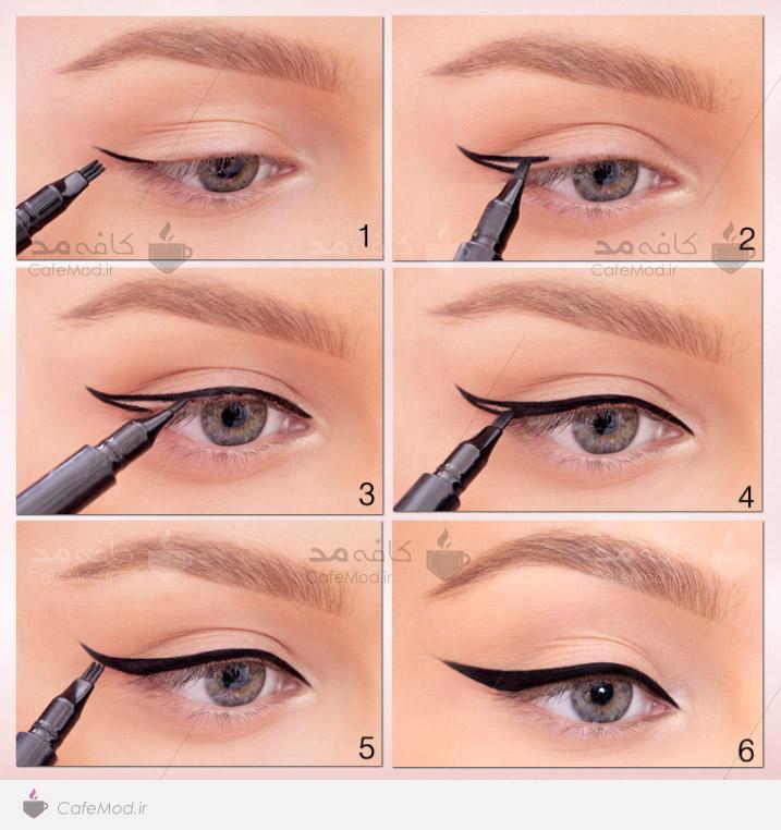 آموزش کشیدن صحیح خط چشم