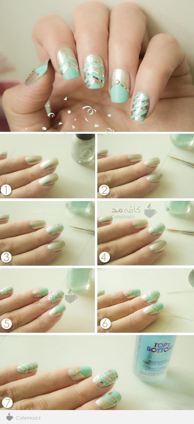 آموزش آرایش ناخن با نوارهای زر