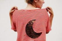 طرح ماه برای تزئین پشت لباس
