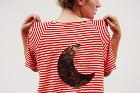 طرح ماه برای تزئین پشت لباس 2